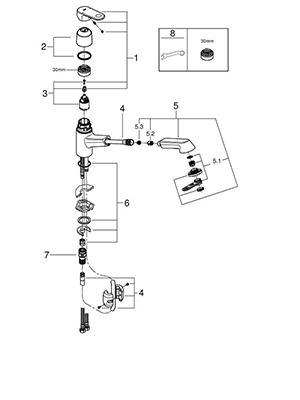 Grohe 32946DC2 - Parts Breakdown